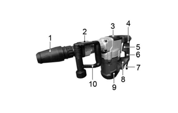 Устройство отбойного молотка Энкор МЭ-1200 50128