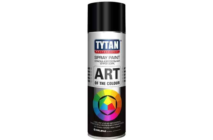 Краска Tytan Art of the colour матовая RAL 9004 черный 400 мл