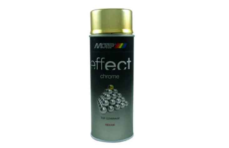 Краска MOTIP Deco effect chrome lacquer gold 400 мл