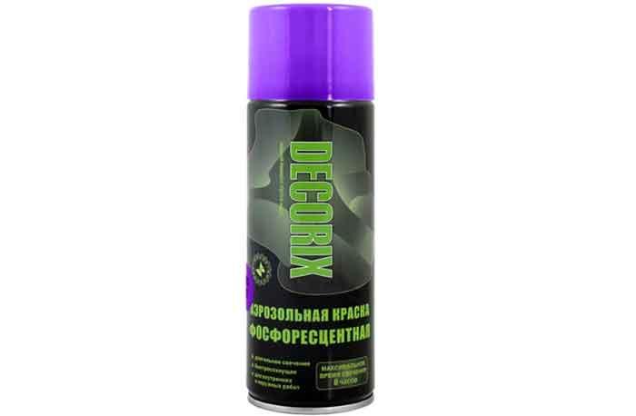 Краска Decorix Фосфоресцентная фиолетовое свечение 520 мл