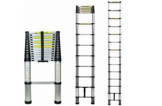 Лестница телескопическая алюминиевая UPU Ladder UP410 4,1 м