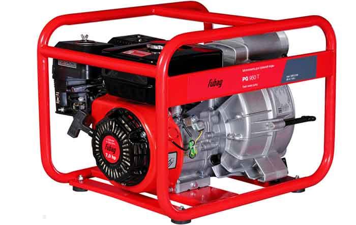 Бензиновая мотопомпа для грязной воды Fubag PG 950 T (838246) 7 л.с. 1300 л/мин