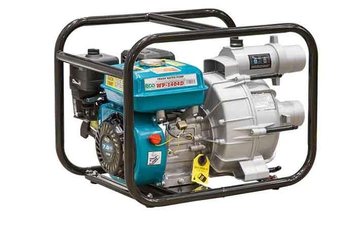 Бензиновая мотопомпа для грязной воды Eco WP-1404D 7 л.с. 1400 л/мин