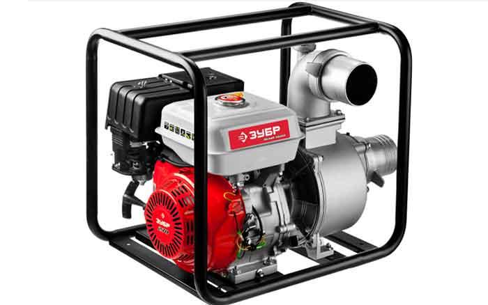 Бензиновая мотопомпа ЗУБР ЗБМП-1600 9 л.с. 1600 л/мин для грязной воды