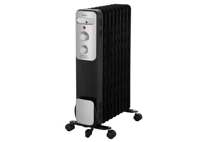 Масляный радиатор Midea MOH3031 черный/серебристый