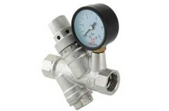 """Редуктор давления воды VALTEC 1/2"""" с фильтром и манометром"""