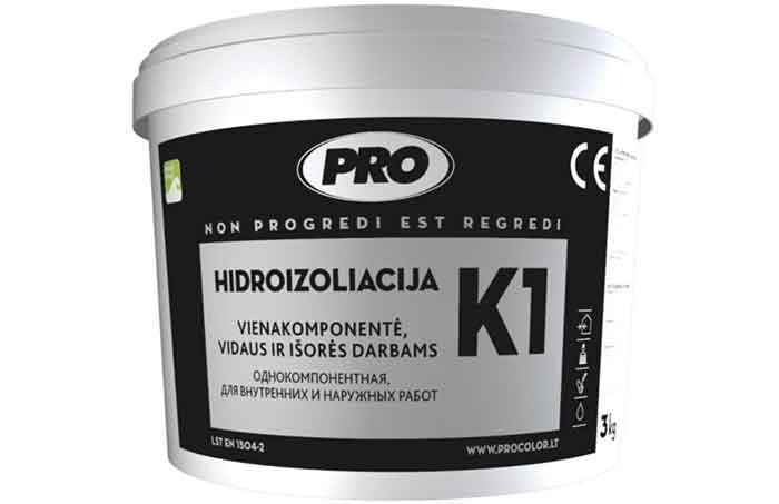 Гидроизоляция обмазочная профессиональная Pro K1 (ПPO К1), 5кг