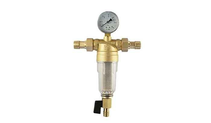 Фильтр механической очистки Tim JH-1002 муфтовый (НР/НР), с манометром
