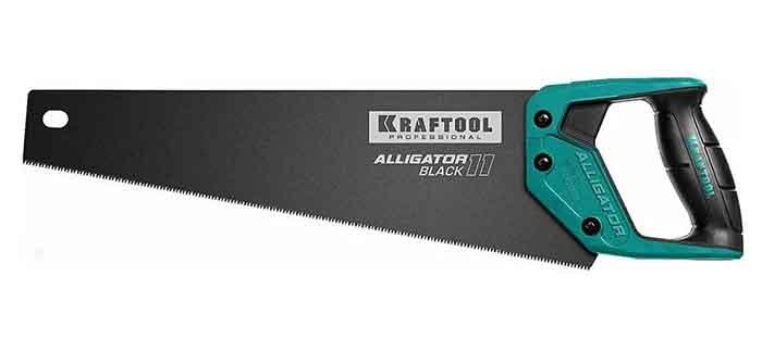 "Ножовка KRAFTOOL для точного реза ""Alligator BLACK"", 550 мм"