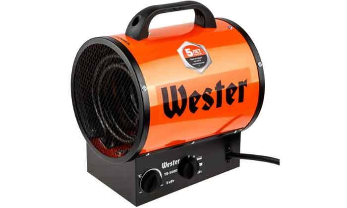 Электрическая тепловая пушка Wester TB-5000 без горелки (5 кВт)