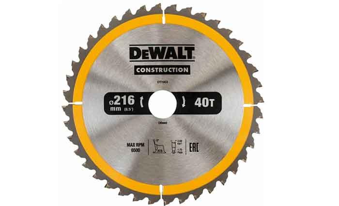 Пильный диск DeWALT Construction DT1953-QZ 216х30 мм