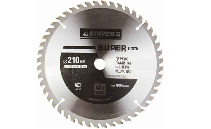 Пильный диск STAYER Super Line 3682-210-30-48