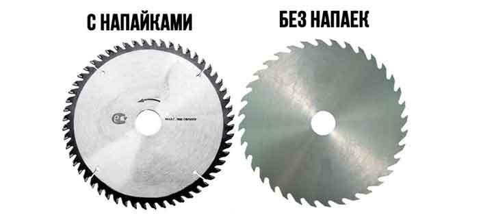 Типы пильных дисков по дереву