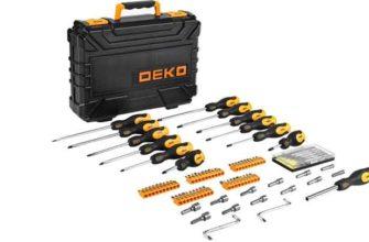 Набор профессиональных отверток и бит DEKO SS83 в чемодане (83 предмета)